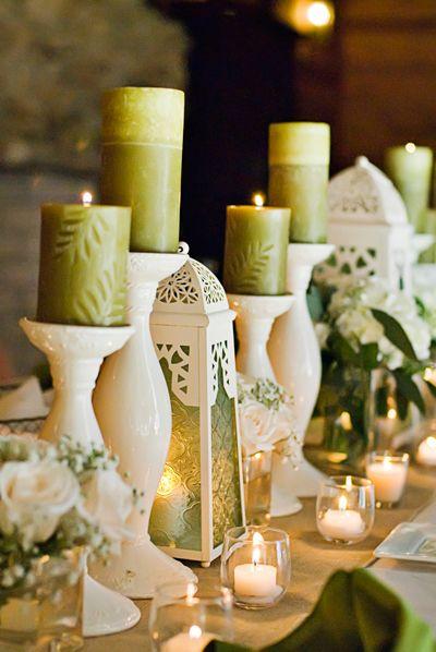 11 Alternative Centerpiece Ideas: candles | HBB Photography
