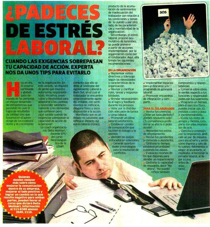 Padeces de estrés laboral. Artículo en el Diario La Karibeña. 09/09/16.