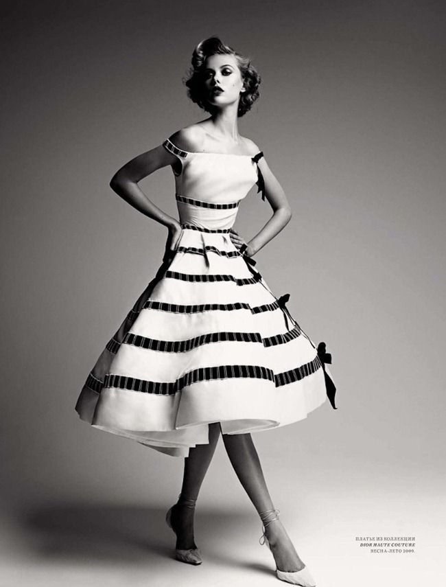Dior 1950's Dress~ Reminds me of the iconic female character in the Cirque Du Soleli show IRIS.