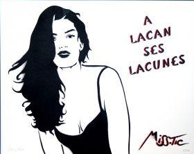 Miss.Tic A Lacan ses lacunes Copyright © Miss Tic/ADAGP 2015