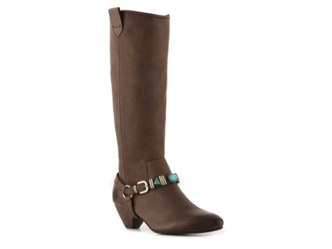 The Audacious boot from Nicole is detailed with turquoise stones to give  you that southwestern sizzle you need to rock this season!
