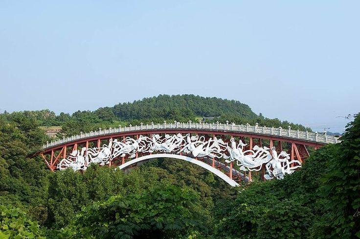 The Seonimgyo Bridge - Jeju Island in Korea