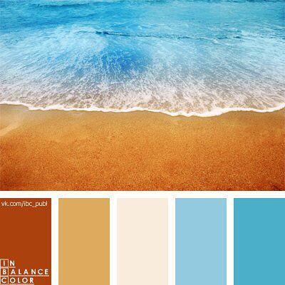 Палитра 175  Описание палитры: Контраст голубых оттенков морской воды и бронзово-рыжего, песочного — цветов пляжа смягчен очень светлым розово-лавандовым цветом морской пены. Это цветовое решение будет удачным для кабинета-библиотеки или ванной комнаты. Такое цветовое сочетание будет хорошо смотреться в летнем гардеробе, как мужском, так и женском. Подпишись на наш паблик ВК: vk.com/ibc_pub #ibc #color #палитра #inbalancecolor #цвет #красота #подпишись #дизайн #баланс #дизайнеру #подбор…