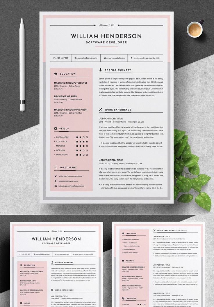 Job resume template in 2020 Job resume template, Modern