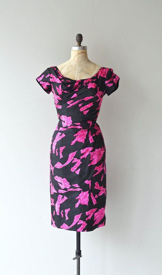 Femme Fatale dress vintage 1950s dress 50s by DearGolden on Etsy