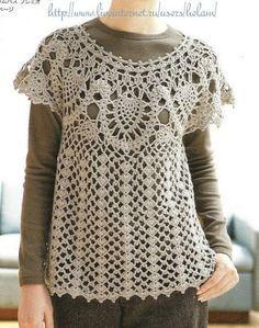 Blusas   Crochet tejidos