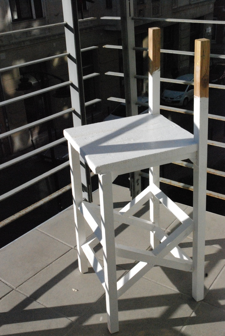 2nd chair 3/4-built with seat in place, some undercoat on, but back still to make & add.