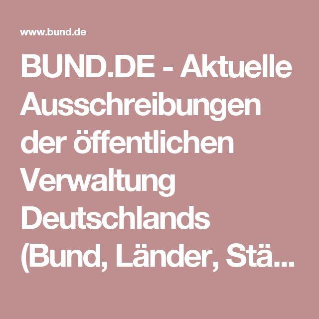 BUND.DE  -  Aktuelle Ausschreibungen der öffentlichen Verwaltung Deutschlands (Bund, Länder, Städte und Kommunen) - Austausch Multifunktionsgeräte