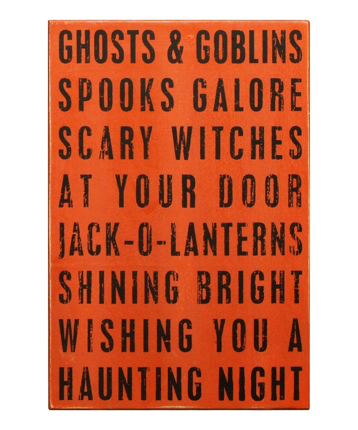 'Ghosts & Goblins' Box Sign: Halloween Decoration, Cute Halloween, Holidays Halloween, Boxes Signs, Hallows Eve, Fall Halloween, Halloween Fal, Halloween Party, Halloween Signs