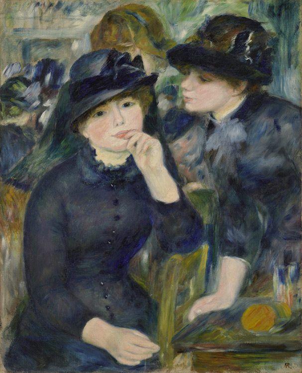 Pierre Auguste Renoir - Jeunes filles en noir, 1880-82 #arte
