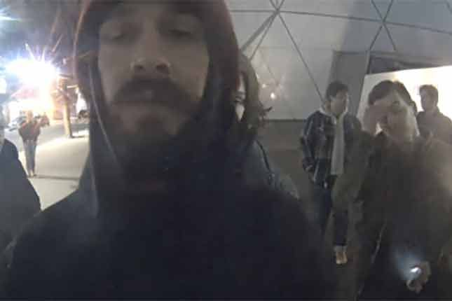 Shia LaBeouf arrested during anti-Trump live stream. Please share this to your audience. #ShiaLaBeouf #HollywoodScum