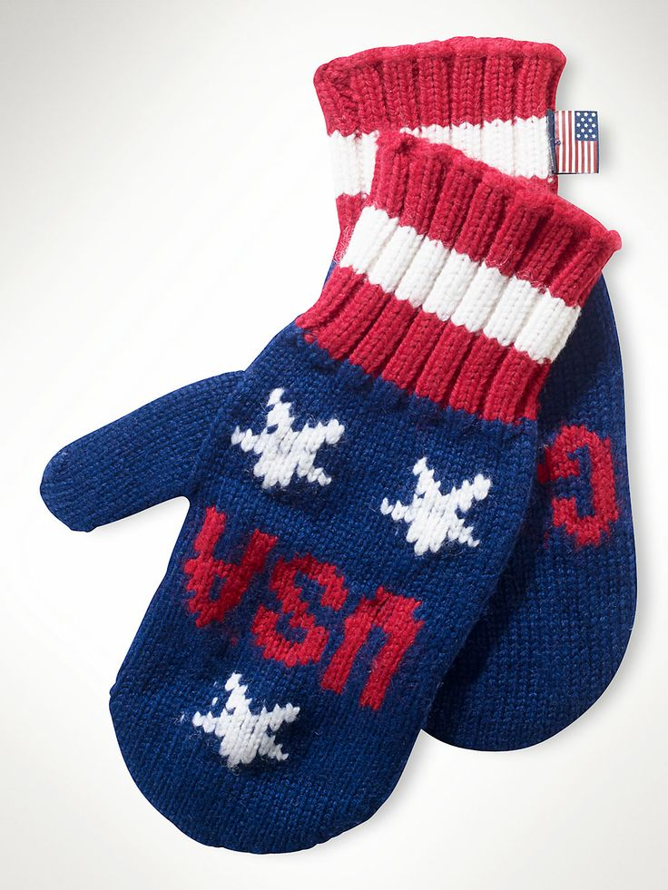 Team USA Go for Gold Mittens - Sochi Olympics - Ralph Lauren I WANT THESE!