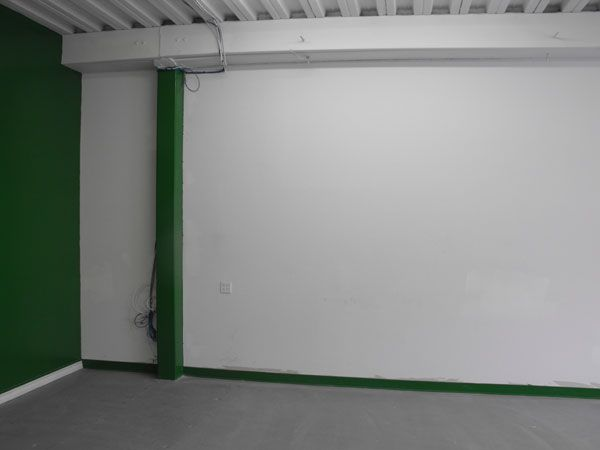 The approximate wall area that we will open to connect the two units.