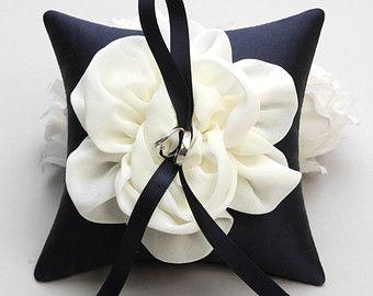 Lavender ring pillow flower ring bearer pillow by louloudimeli