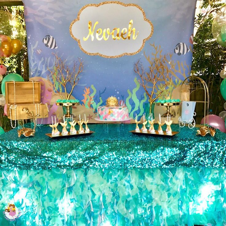 """41 Likes, 6 Comments - We Came Here To Party (@wecameheretopartyaus) on Instagram: """"🐠Welcome to Nevaeh's 7th birthday🐠 Dessert table made with love and many hand made hours 😂 Mum…"""""""