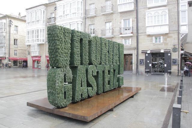 Escultura vegetal Vitoria