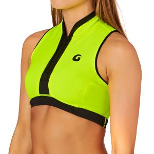 GlideSoul Short 0.5mm Front Half Zip Wetsuit Jacket - Fluro Yellow/ Black | Free Delivery*