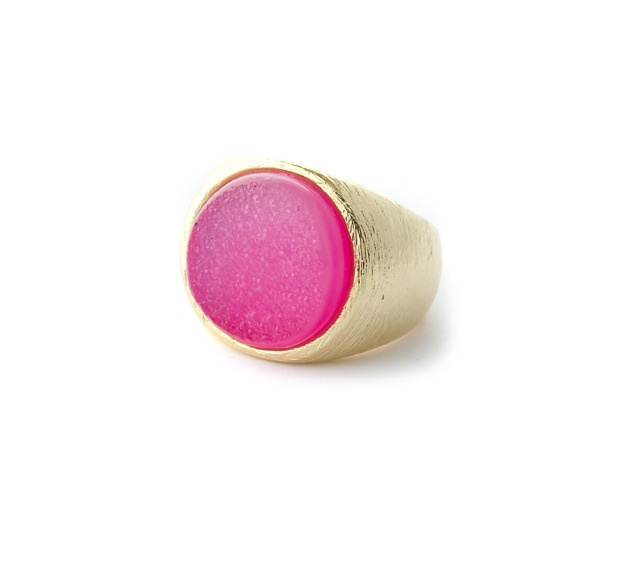 hot pink cocktail ring