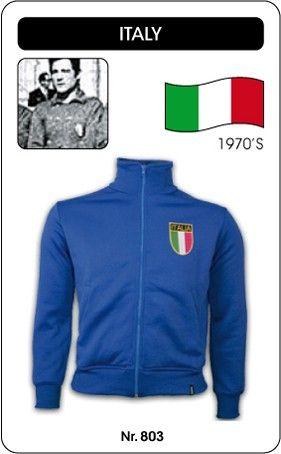 Italië voetbal jack jaren '70 Italia Italy retro voetbal truitje football soccer vintage sport COPA