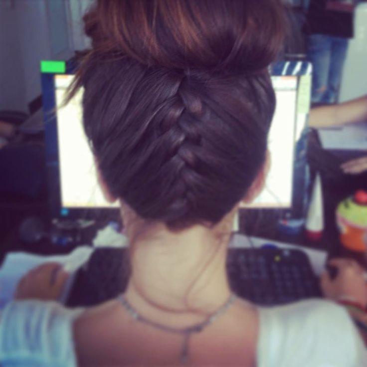 Easy updo braid