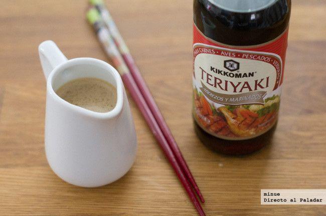 Receta de salsa teriyaki casera. Con fotos del paso a paso, los ingredientes y la presentación. Trucos y consejos de elaboración. Recetas de sals...