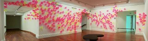 """Judy Darragh (NZ) Laser Bloom 1999 acrylic """"flowers"""""""