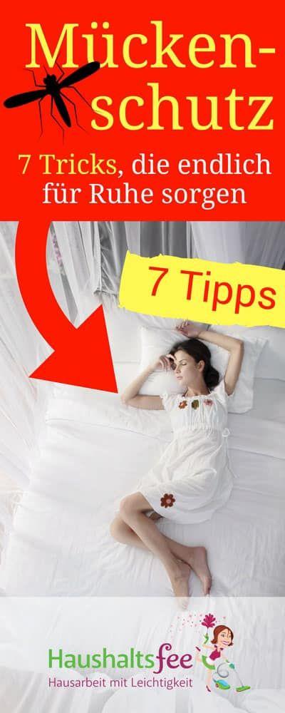 Mückenschutz: 7 Tricks, die endlich für Ruhe sorgen   Haushaltsfee.org