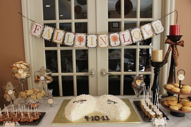 17 best images about fall in love bridal shower ideas on pinterest bridal shower fall love - Bridal shower theme ideas for fall ...