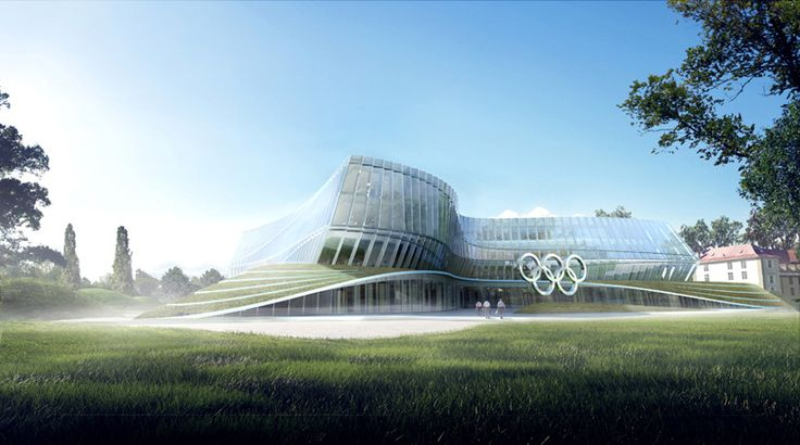 first images of 3XN's olympic committee headquarters in lausanne