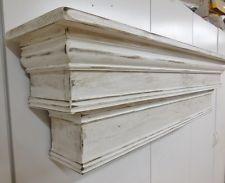 Tall Mantel, French Country Mantle Shelf, Primitive Mantel,Large Mantle shelf