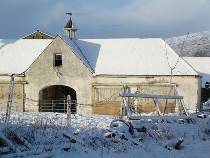 Applecross, Wester Ross. Model farm under the snow.