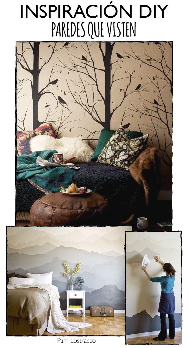 Dare to DIY: 21 ideas DIY para vestir las paredes de una habitación