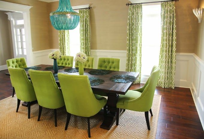 Green And Turquoise Dining Room Colordrunk Designs