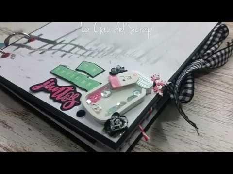 Álbum scrapbooking de San Valentín - Colaboración con Creavea
