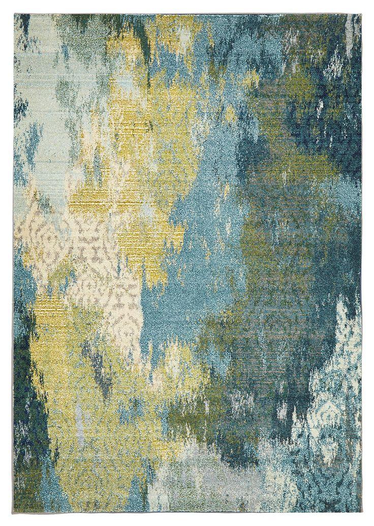 Kaleidoscope Blue Floor - Rug