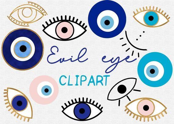 Evil Eye Clipart 70 Elementsgold Foil Bohobohemian Etsy Patrones Para Pintar Piedras Ilustracion De Ojo Disenos De Unas