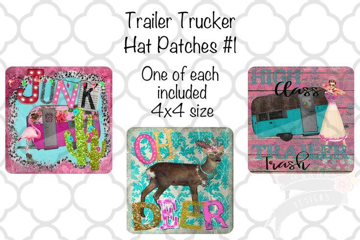 Trailer Trucker Hat Patch Set Hat patches, Trucker hat