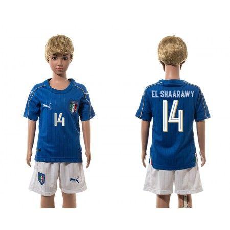 Italien Trøje Børn 2016 #El Shaarawy 14 Hjemmebanetrøje Kort ærmer.199,62KR.shirtshopservice@gmail.com