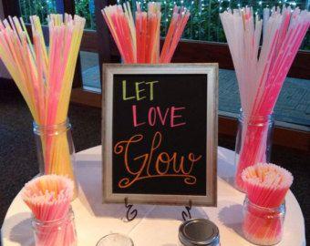 Let love glow Dance Floor  Wedding Chalkboard Sign Digital