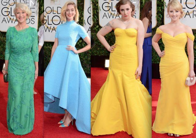 Globos de Oro 2014 - Colores fuertes