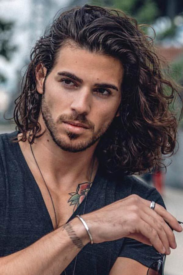 How To Get And Manage Wavy Hair Men Menshaircuts Com Wavy Hair Men Long Wavy Hair Mens Hairstyles