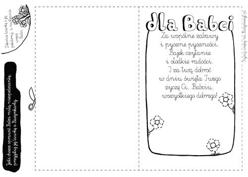 Laurka Do Wydrukowania Dla Kochanej Babci Narysuj Pięknęgo Kwiata