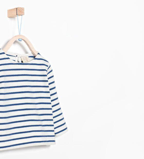 ZARA - MINI - Randig t-shirt i organisk bomull