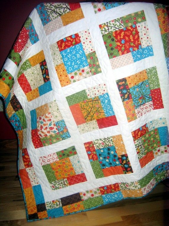 Moda's LOLLIPOP baby or toddler quilt ...pattern also                                                                                                                                                                                 More
