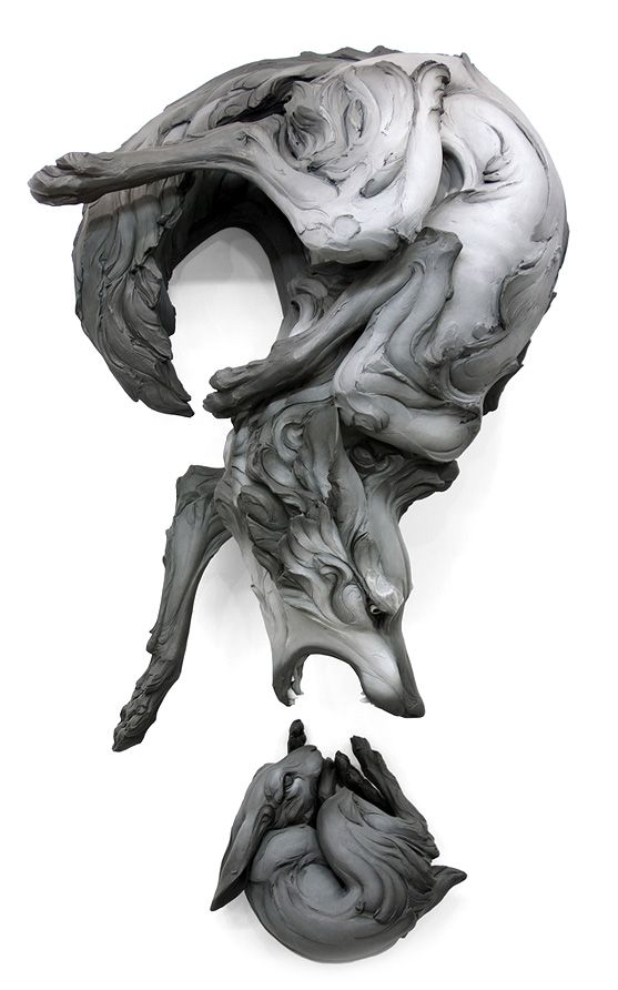 Beth Cavener - Follow the black rabbit | Personal Portfolio Phenomenal ceramic sculpting : so pretty (her gallery is amazing, I'd love to see an exhibit sometime).