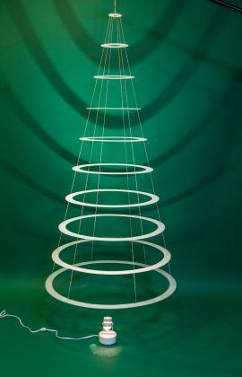 Decorated Classic 7 5 Tree Modern Christmas Trees Modern Christmas Tree Christmas Tree Ring Modern Christmas