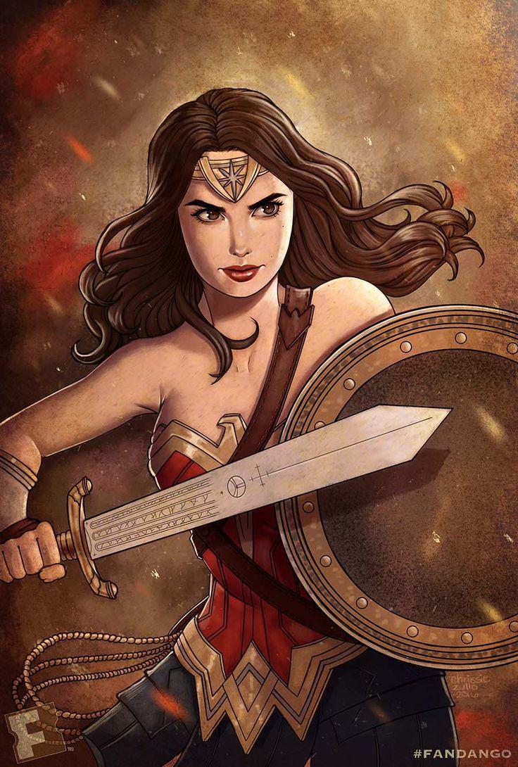 Wonder Woman Fan Art by Chrissie Zullo #BatmanvSuperman