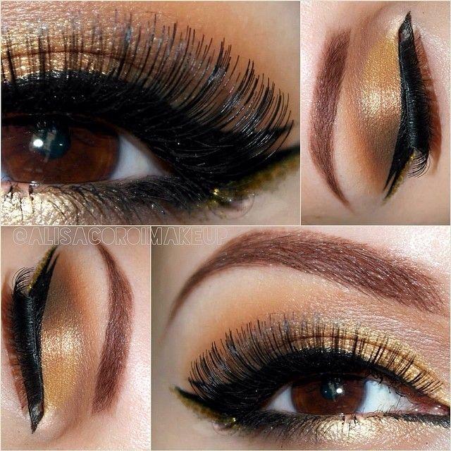 how to make gold eyeshadow stivk
