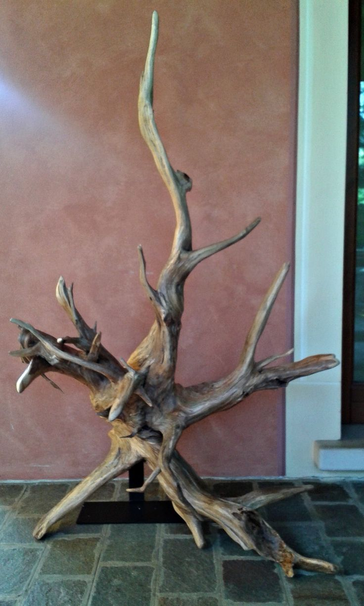 Scultura in radice naturale in un unico pezzo di legno con piedistallo, di Engardina su Etsy