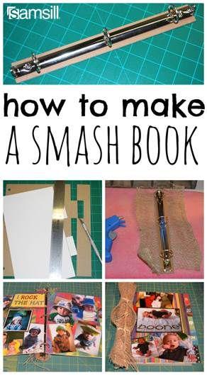 how to make a smash book                                                                                                                                                      More